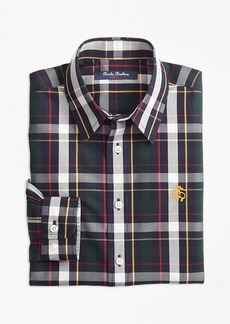 Brooks Brothers Boys Non-Iron Bold Plaid Sport Shirt