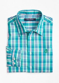 Brooks Brothers Boys Non-Iron Bright Plaid Sport Shirt