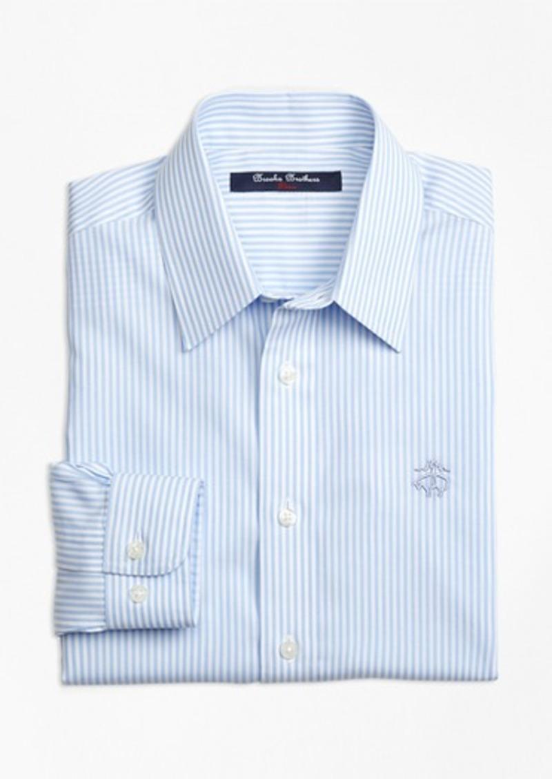 Brooks Brothers Boys Non Iron Club Stripe Sport Shirt Shirts
