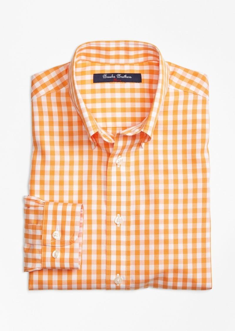 Brooks Brothers Boys Non Iron Gingham Sport Shirt Shirts