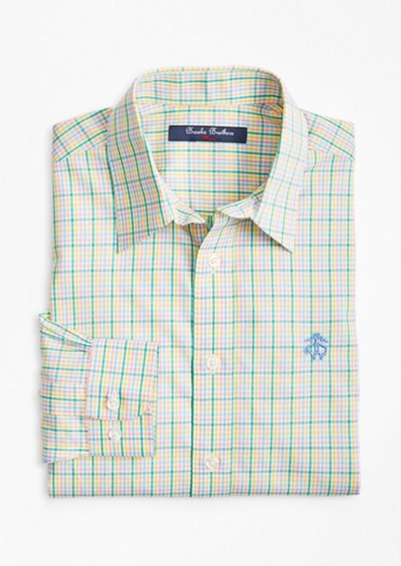 Brooks Brothers Boys Non-Iron Madras Sport Shirt