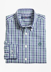 Brooks Brothers Boys Non-Iron Mini Tartan Sport Shirt