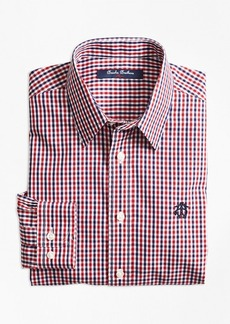 Brooks Brothers Boys Non-Iron Mini Tattersall Sport Shirt