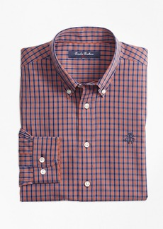 Brooks Brothers Boys Non-Iron Mini Tattersall Sport Shirt