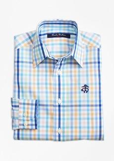 Brooks Brothers Boys Non-Iron Multi Plaid Sport Shirt