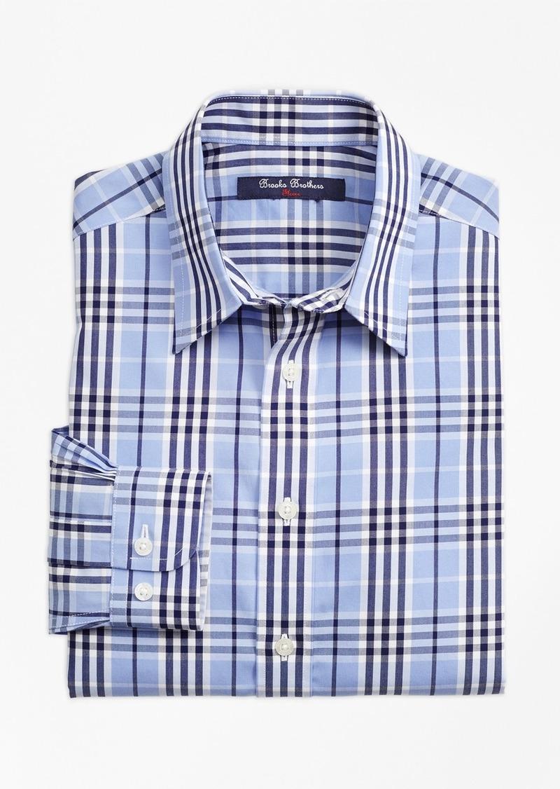 Brooks Brothers Boys Non Iron Plaid Sport Shirt Shirts
