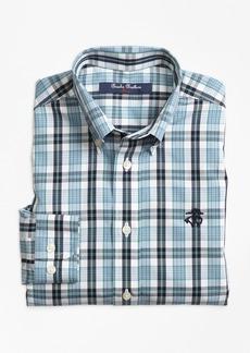 Brooks Brothers Boys Non-Iron Small Plaid Sport Shirt