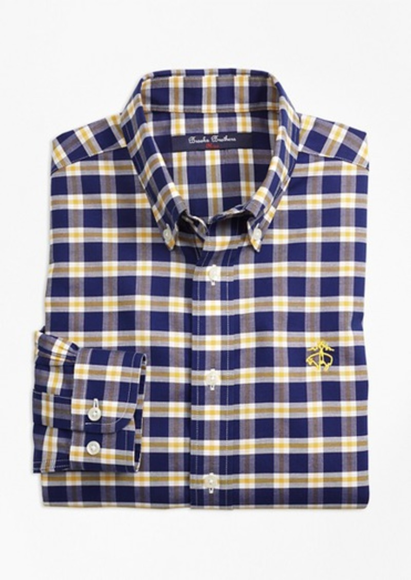 Brooks Brothers Boys Non Iron Supima Cotton Check Sport Shirt Shirts