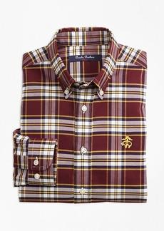 Brooks Brothers Boys Non-Iron Supima® Cotton Large Plaid Sport Shirt