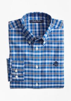 Brooks Brothers Boys Non-Iron Supima® Cotton Tattersall Sport Shirt