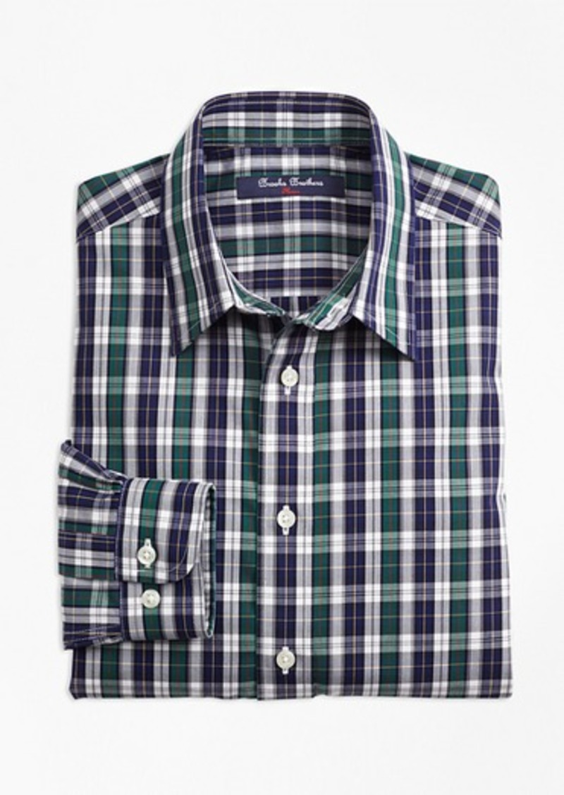 Brooks Brothers Boys Non-Iron Tattersall Sport Shirt