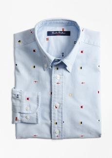 Brooks Brothers Boys Oxford Nautical Sport Shirt