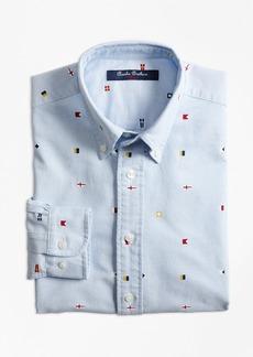 Brooks Brothers Boys Oxford Nautical Sport Shirt