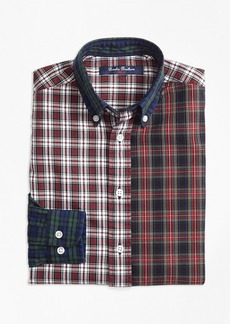 Brooks Brothers Boys Oxford Plaid Fun Shirt
