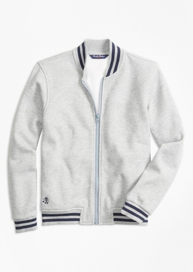 Brooks Brothers Boys Pique Full-Zip Baseball Fleece