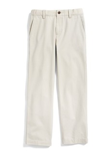 Brooks Brothers Boys Plain-Front Washed Chinos