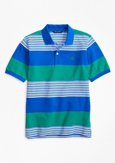Brooks Brothers Boys Rugby Stripe Pique Polo Shirt