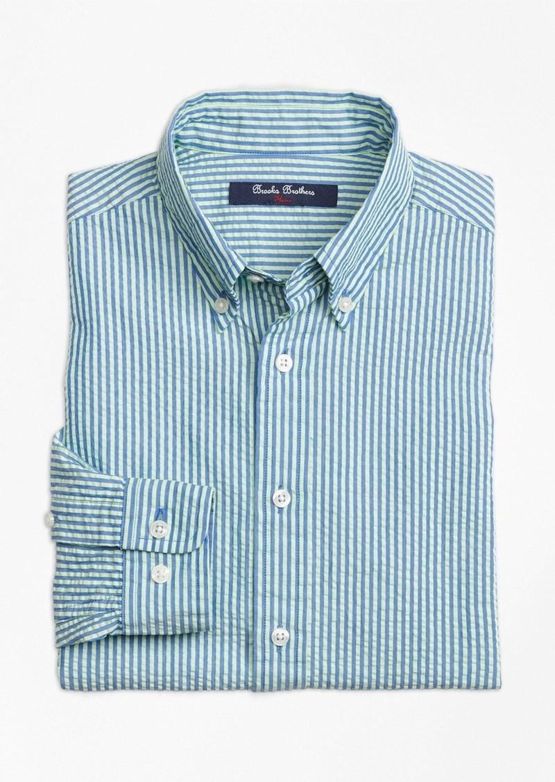 brooks brothers boys seersucker sport shirt shirts