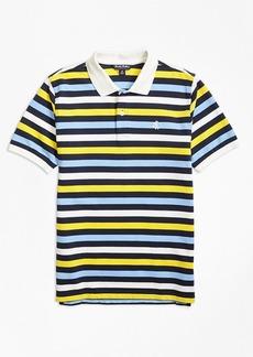 Brooks Brothers Boys Short-Sleeve Bold Stripe Pique Polo Shirt