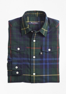 Brooks Brothers Boys Stewart Hunting Plaid Flannel Sport Shirt