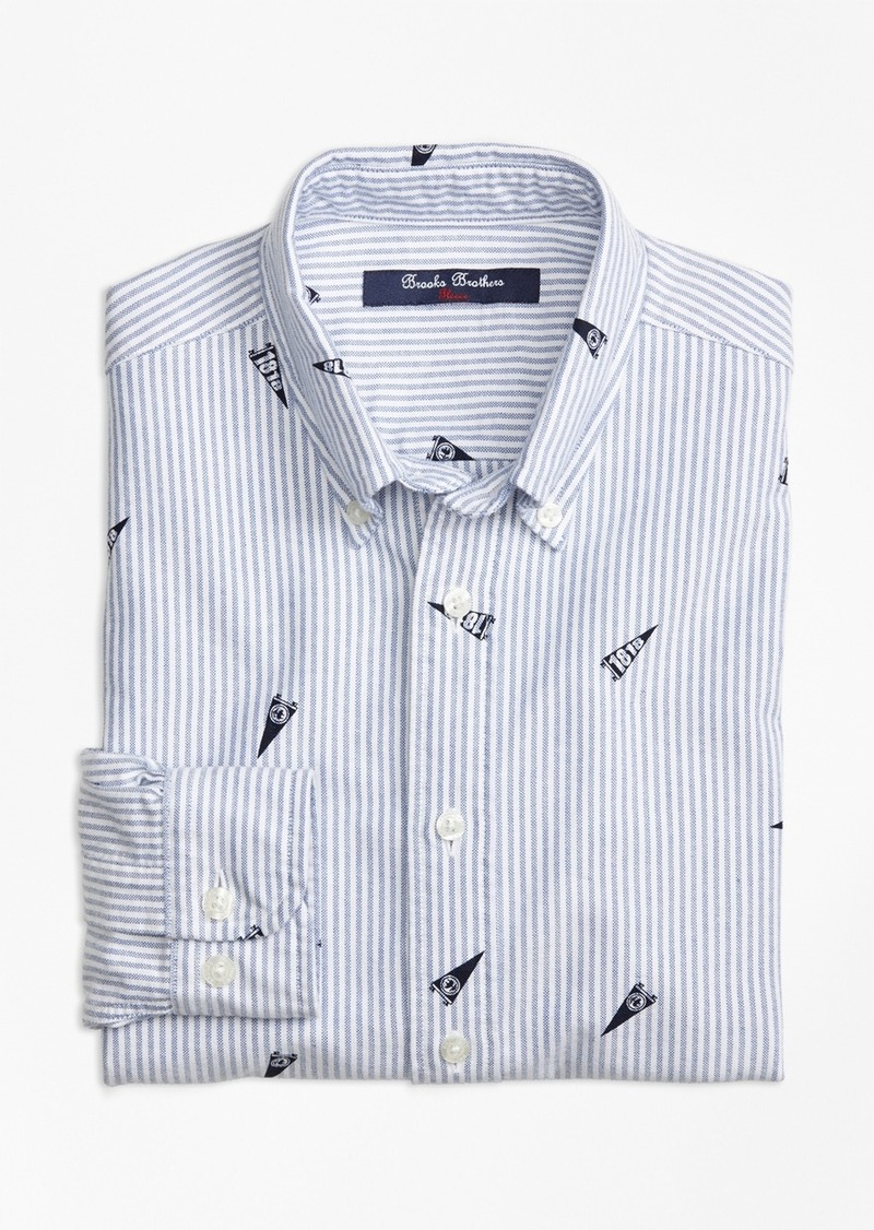On sale today brooks brothers boys striped cotton oxford for Brooks brothers boys shirts