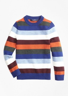 Brooks Brothers Boys Striped Crewneck Sweater