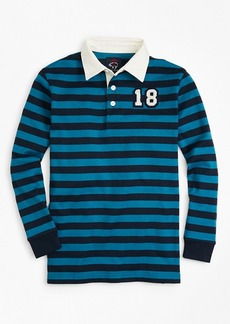 Brooks Brothers Boys Striped Rugby Shirt
