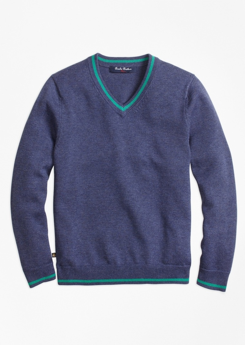 Brooks Brothers Boys V,Neck Sweater