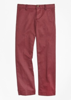 Brooks Brothers Boys Washed Cotton Stretch Chinos