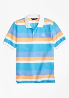 Brooks Brothers Boys Wide Stripe Pique Polo Shirt