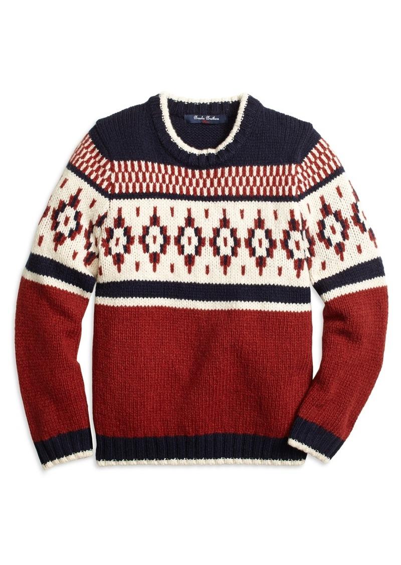 Brooks Brothers Boys Wool Blend Fair Isle Sweater | Sweaters ...