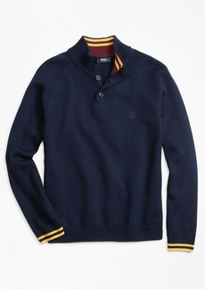 Brooks Brothers Boys Wool Mockneck Sweater