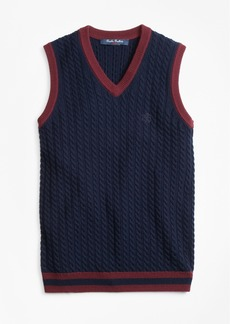 Brooks Brothers Boys Wool V-Neck Vest