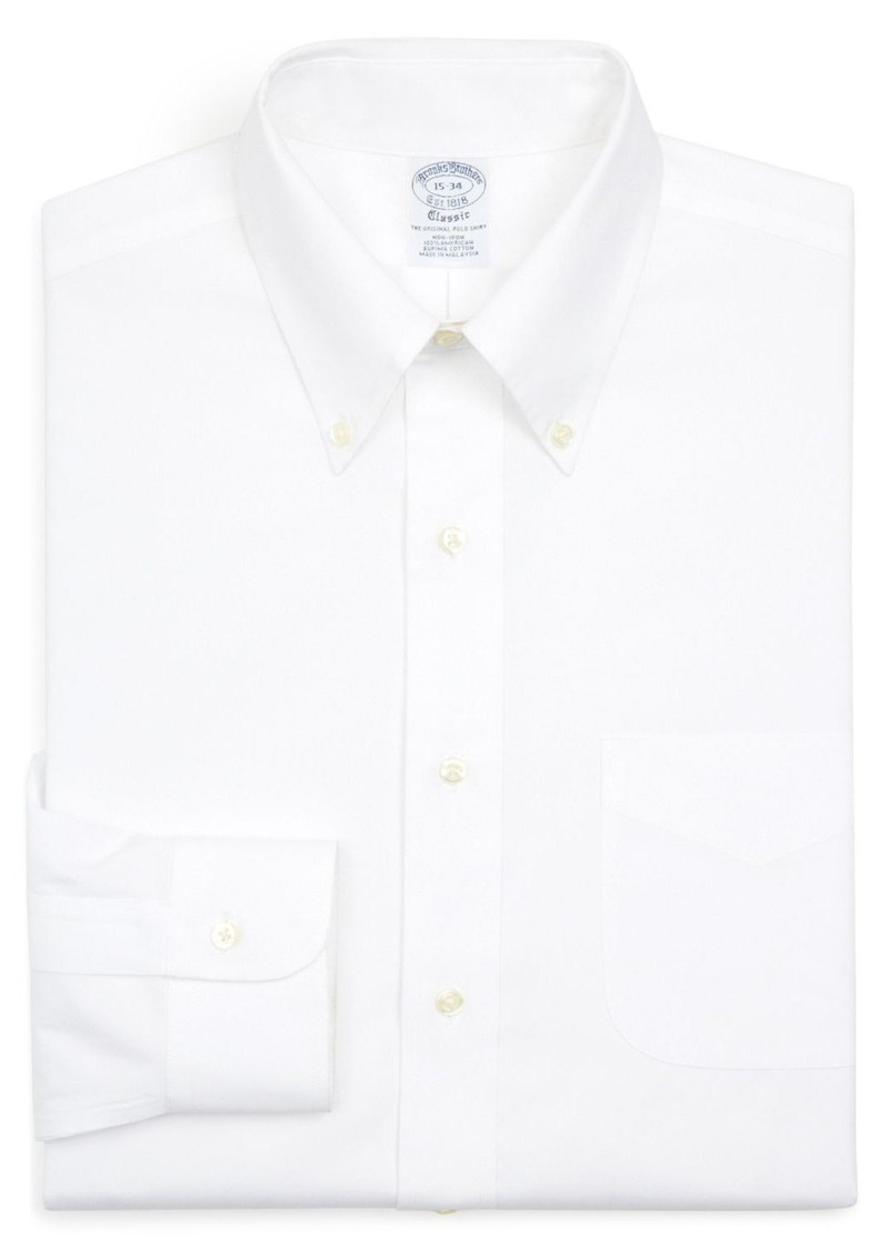 Brooks Brothers Basic Solid Non-Iron Dress Shirt