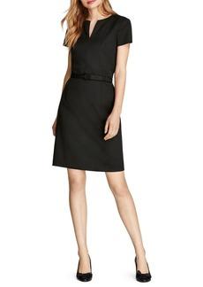 Brooks Brothers Belted Splitneck Fit-&-Flare Dress