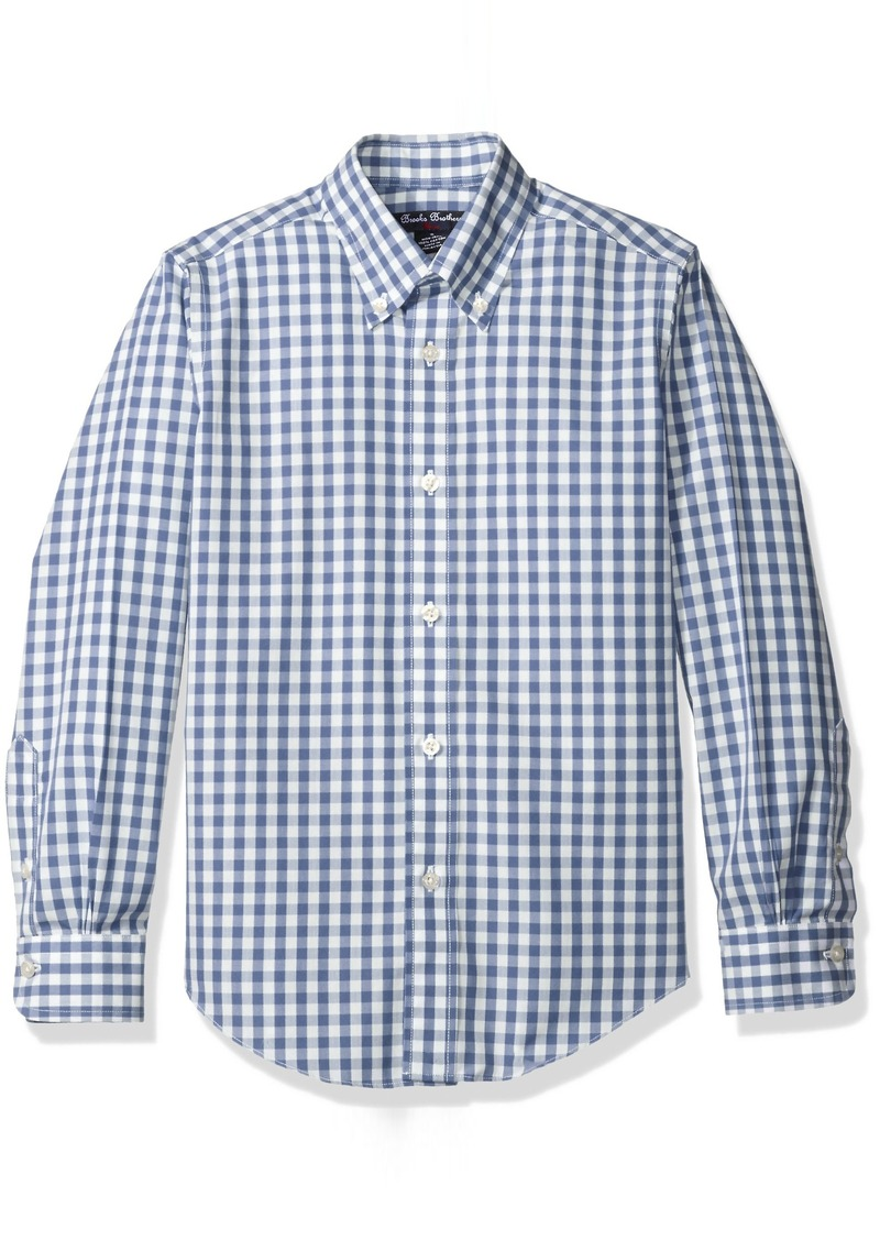 Brooks brothers brooks brothers big boys 39 non iron gingham for Brooks brothers boys shirts