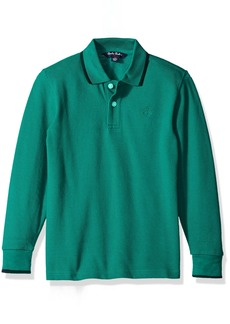 Brooks Brothers Boys' Big Long Sleeve Pique Polo