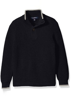 Brooks Brothers Big Boys' Supima Waffle Mock Neck Sweater