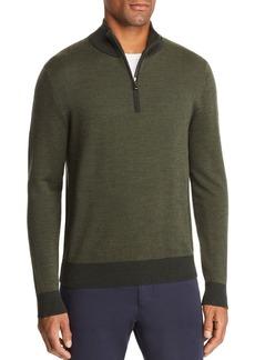 Brooks Brothers Birdseye Half Zip Sweater