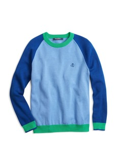 Brooks Brothers Boys' Color Block Crewneck Sweater - Little Kid, Big Kid
