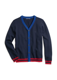 Brooks Brothers Boys' Contrast-Trim Cotton Cardigan - Little Kid, Big Kid