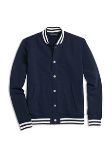 Brooks Brothers Boys' Fleece Knit Baseball Jacket - Little Kid, Big Kid
