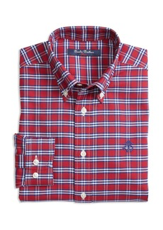 Brooks Brothers Boys' Non-Iron Oxford Check Shirt - Little Kid, Big Kid