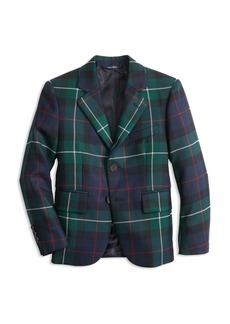 Brooks Brothers Boys' Plaid Holiday Suit Jacket - Big Kid