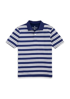 Brooks Brothers Boys' Striped Performance Polo - Little Kid, Big Kid