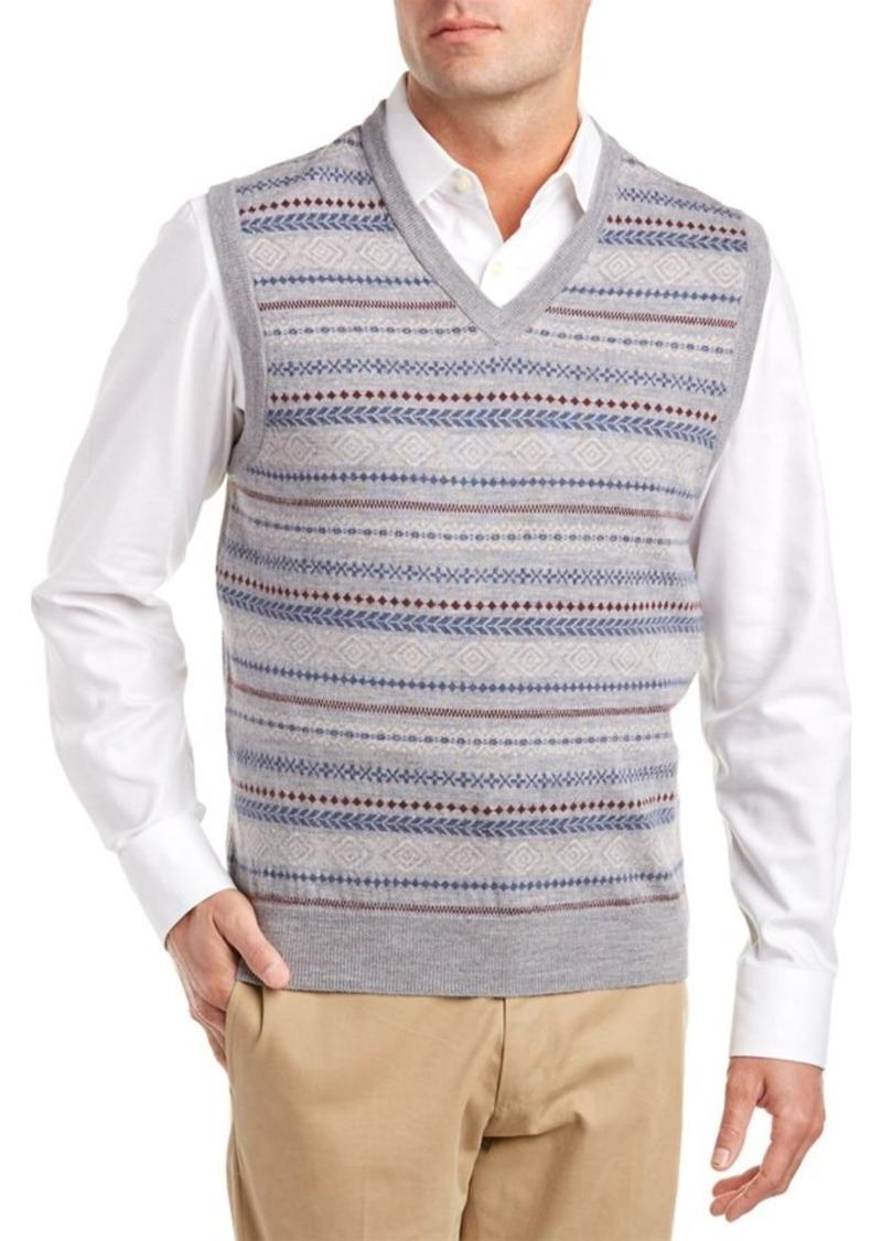 Brooks Brothers Brooks Brothers Fairisle Wool V-...