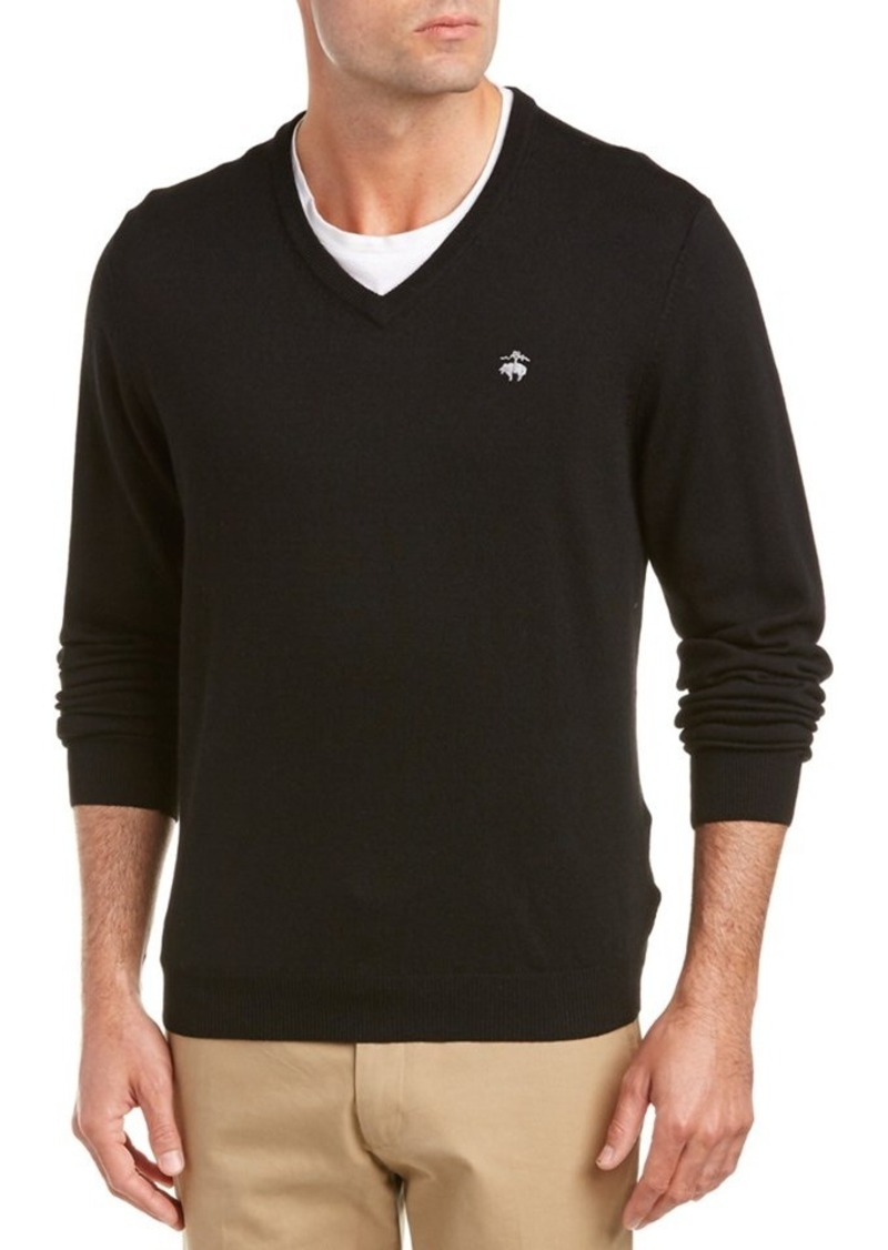 Brooks Brothers Brooks Brothers Wool-Blend V-Nec...