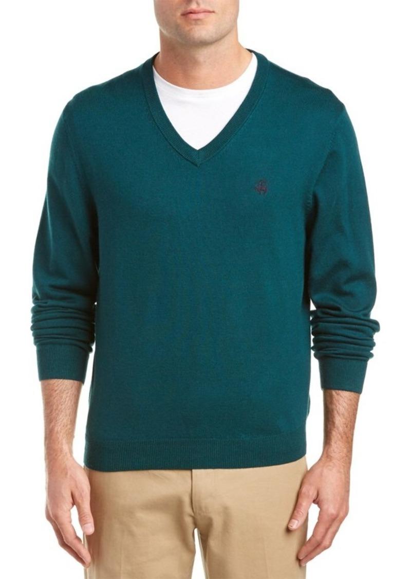 Brooks Brothers Brooks Brothers Wool-Blend V-Nec...