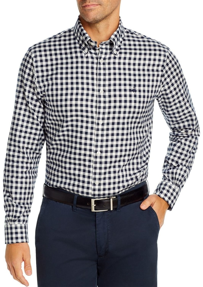 Brooks Brothers Brushed Oxford Gingham Classic Fit Button-Down Shirt