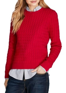 Brooks Brothers Cable-Knit Crewneck Sweater